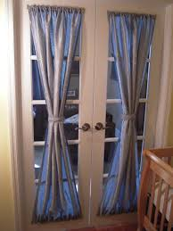 attractive blue curtain for door full size image