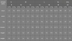 Spyder Ski Race Suit Size Chart 13 Accurate Spyder Size Chart