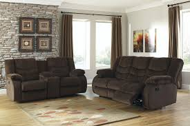 Reclining Living Room Furniture Sets Buy Ashley Furniture Garek Cocoa Powered Reclining Living Room Set