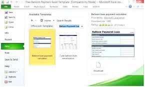 Free Loan Payment Calculator Easy To Use Balloon Payment Calculator Excel Loan With Free Template