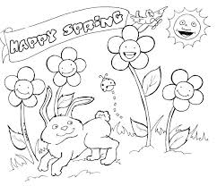 Spring Coloring Pages For Preschoolers Color Coloring Pages