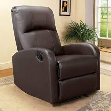 jummico manual pu leather recliner chair single sofa armchair furniture with thick seat cushion home theater