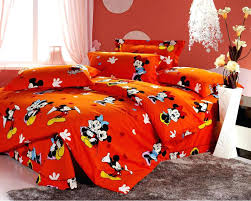 mouse pull out bed cotton bedding mickey toddler and minnie kissing