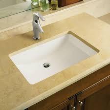 undermount bathroom sink. Ladena Ceramic Rectangular Undermount Bathroom Sink R