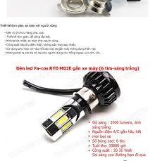 Đèn pha led xe máy 6 tim M02E-RTD 35W gắn xe máy 001000014 Thanh Khang