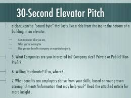 30 Sec Elevator Speech How To Write The Perfect Elevator Pitch Speech Example Template Job