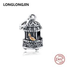senarai harga new 925 sterling silver birdcage charms fit authentic pendant pandora charm bracelet antique beads diy fashion jewelry for gifts terbaru di