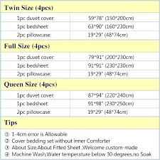 Bedding Sheet Sizes King Size Bed Chart Duvet John Uk