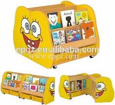 daycare classroom furniture mini spongebob shaped kids toy storage