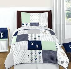 toddler boy twin bedding sets sweet designs modern blue white gray woodland children boy twin bedding