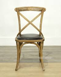 cross back oak dining chair black pu commercial cafe nz s largest furniture