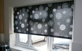 Roller Blinds For Kitchen Black Patterned Roller Blind Kitchen Surrey Blinds Shutters