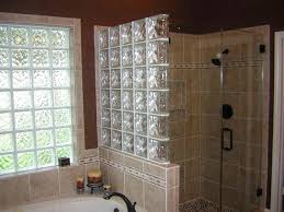 bathroom glass block shower wall throughout charming 5 glass block shower wall