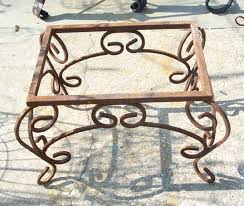 wrought iron coffee table base w