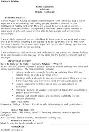 recruitment consultant cv careers adviser cv example icover org uk