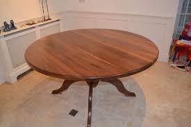 drt3104 deanery 5ft solid walnut round table with pedestal base