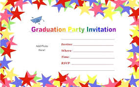 free graduation invitation templates 4x6 party