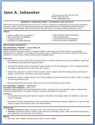 Insurance Claims Processor Resume Examples Resume Examples