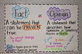 Fact Vs Opinion Anchor Chart Writing Q1 Lessons Tes Teach