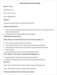 Drama Teacher Resumes Endearing Drama Coach Sample Resume For Your Best Ideas Of Sample