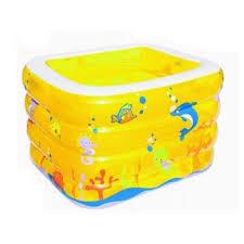 bestway baby pool kolam spa kotak yellow