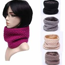 Winter <b>Thickened Wool Collar Scarves</b> Girls Scarf Child For Women ...