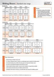 standard sliding glass door size page