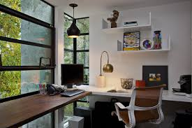 woodside residence trendy home office photo in other with a built in desk natural lighting home office