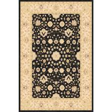 home dynamix antiqua black cream 5 ft x 7 ft indoor area rug 2 8459 472 the home depot