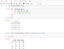 pandas dataframe add prefix