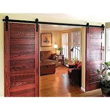barn doors for homes interior. Plain Barn DIYHD 10ft Bent Straight Rustic Black Double Sliding Barn Door Hardware  10ft Track Kit And Doors For Homes Interior O