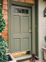 green front doorsFront Door Drama  Elements of Style Blog