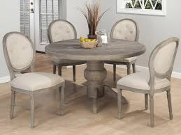 Buy Jofran Burnt Grey Round Pedestal Dining Table In Solid Oak Room