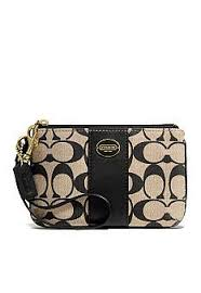 COACH LEGACY PRINTED SIGNATURE FABRIC SMALL WRISTLET