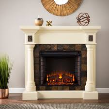harper blvd blanchard ivory electric fireplace free even glow suite best portable heater homemade wood
