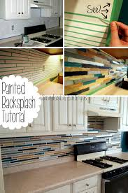 Painting Tiles In The Kitchen How To Paint A Backsplash To Look Like Tile