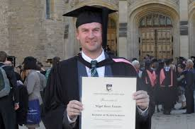 First Class Honours Nigel Farrow Completing First Class Honours In Medicine By