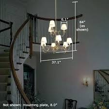 2 story foyer chandelier height how to change a