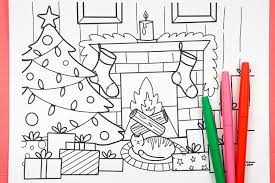 So print the pictures you like the most, invite your friends and family, and celebrate christmas time in a new way. Free Printable Christmas Coloring Page Hey Let S Make Stuff