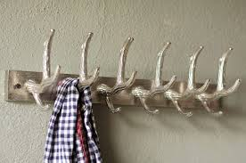 magnificent accessories for wall decoration with antler coat hooks extraordinary picture of modern decorative silver