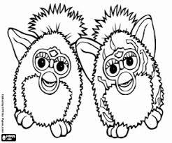 Kleurplaat Twee Grappige Furbys Kleurplaten