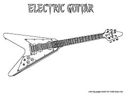 Grand Guitar Coloring   Guitars   Free   Electric Guitar ...
