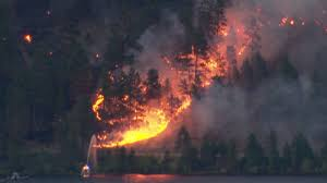 In an email to global news, air canada said there's been reduced visibility due to smoke from ongoing wildfires, which has resulted in disruption to its kelowna flights. Numerous Homes Burned After Grass Fire Breaks Out In B C S Lake Country Cbc News