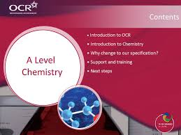 Make a difference Welcome A Level Chemistry. Introduction to OCR ...
