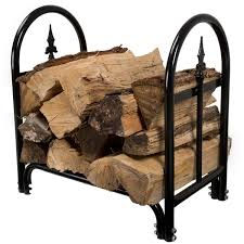 fireplace log rack.  Log Pure Garden Fireplace Log Rack With Finial Design  Black Inside S