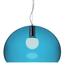 ferruccio laviani lighting. Kartell - Ferruccio Laviani FLY Suspension Light Petrol Blue Lighting