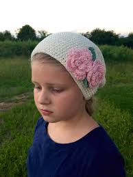 Slouch Hat Crochet Pattern Cool Crochet Pattern Bella's Slouch Hat With Flowers And Leaves In 48