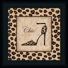Cheetah Print Decor Chic Kathy Middlebrook Cheetah Print Fashion Framed Art Print Wall