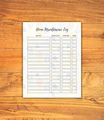 Floral Home Maintenance Log Printable Cottage Notes