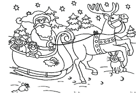 Rudolph The Red Nosed Reindeer Movie Coloring Pages Santa Colouring